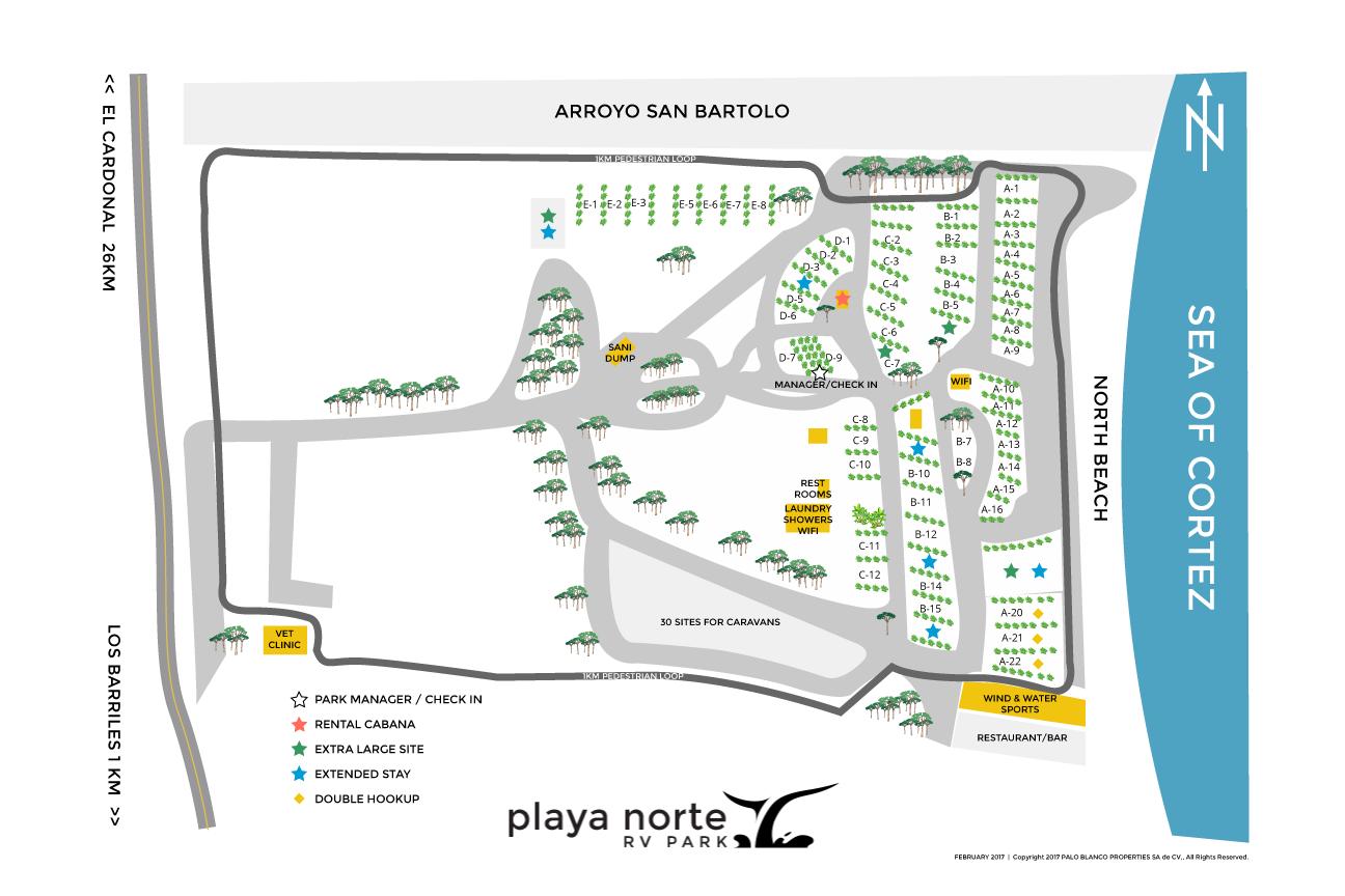 Map - Playa Norte RV Park